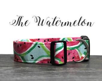 Watermelon Dog Collar, Cute Dog Collars, Summer Collar for Dog, Watermelon Collar, Collar for Girl Dog, Girl Dog Collars, Pink Dog Collar