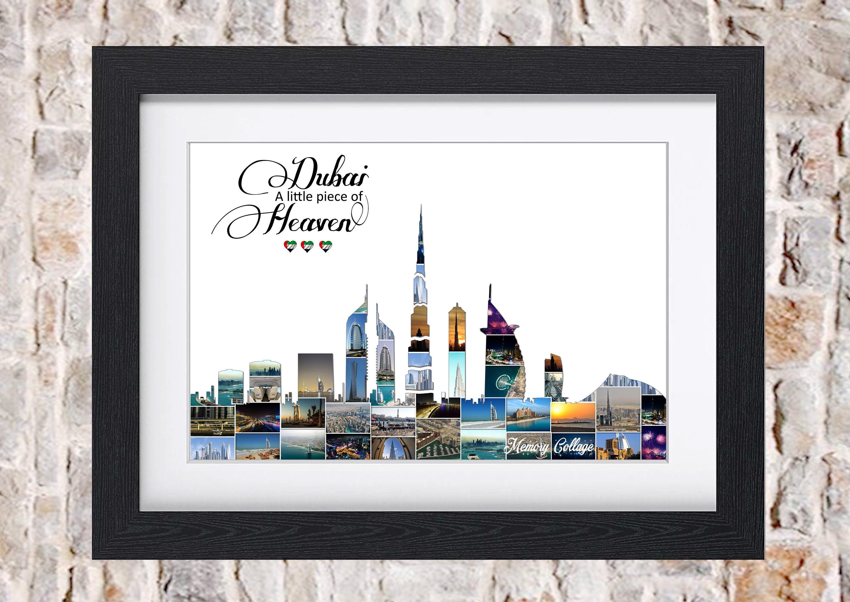 Dubai Skyline Cityscape Photo Collage Wall Art Home Decor ...