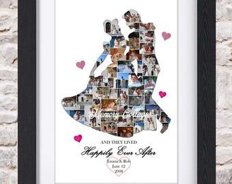 Cinderella & Prince Charming Waltz Digital Wall Art or Fine Art Photo Collage