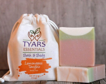 Soap | Lemongrass Tangelo Soap | Moisturizing Soap | Natural Soap