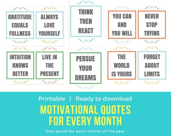 Motivational Quotes in English Printable | Etsy