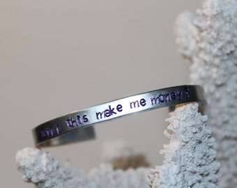 Will this make me money? personalized, hand made jewelry