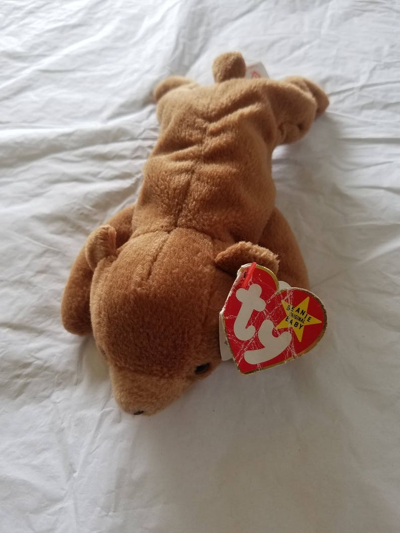 5019a814e01 Ty Beanie Baby CUBBIE Renamed from Brownie RARE One of