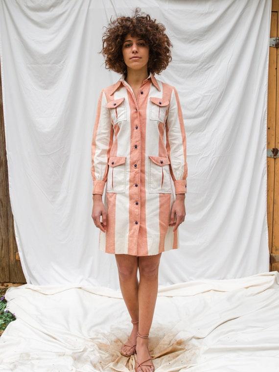 Vintage 70s Mini Button Down Dress - image 3