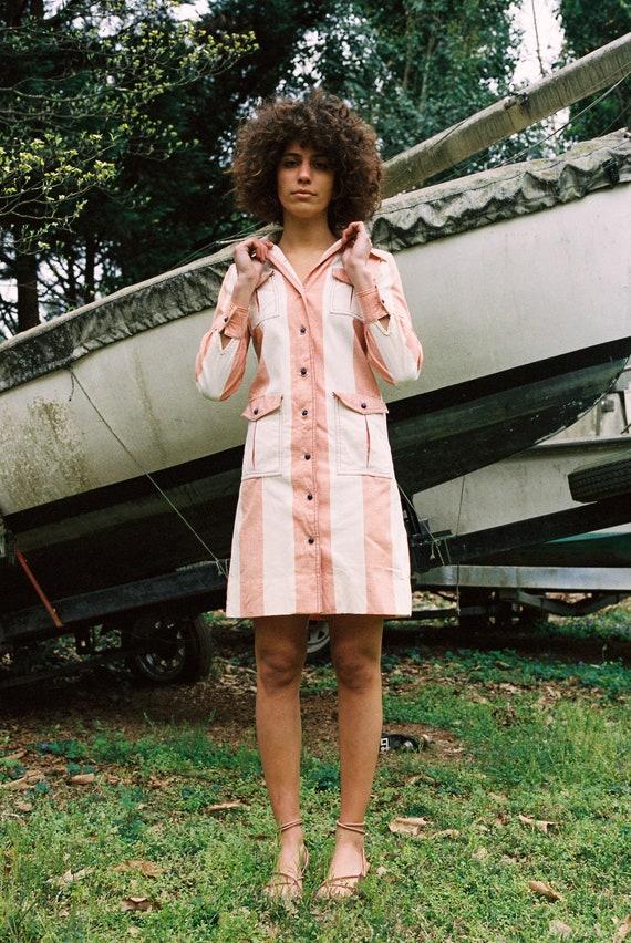 Vintage 70s Mini Button Down Dress - image 1