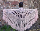 Shawl Dusty Rose Wool Gift for mother Bridal shawl Large Wrap Exclusive Crochet Wool Spring Vintage lace Elegant Ladies For Women Shawl