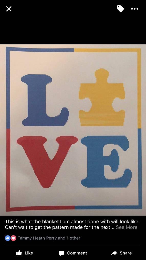 Autism Awareness Blanket Love Etsy