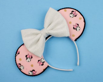 Classic Minnie-Inspired Mouse Ear Headband