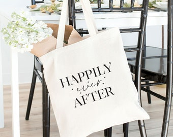 Happily Ever After Tote Bag, Happily Ever After Gold Foil Tote, Fairytale Wedding Tote Bag, Disney Inspired Tote Bag, Bride Gift Tote Bag