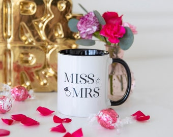 Miss to Mrs Coffee Mug, Wedding Mug Gift, Bride Mug, Engagement Mug Wedding Gift for Her, Engagement Mug Gift, Fairytale Wedding Mug Gift