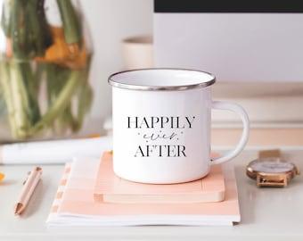 Happily Ever After Camp Mug, Wedding Camp Mug, Bride Camp Mug, Mug Wedding Gift for Her, Fairytale Wedding Gift, Fairytale Camp Mug Gift