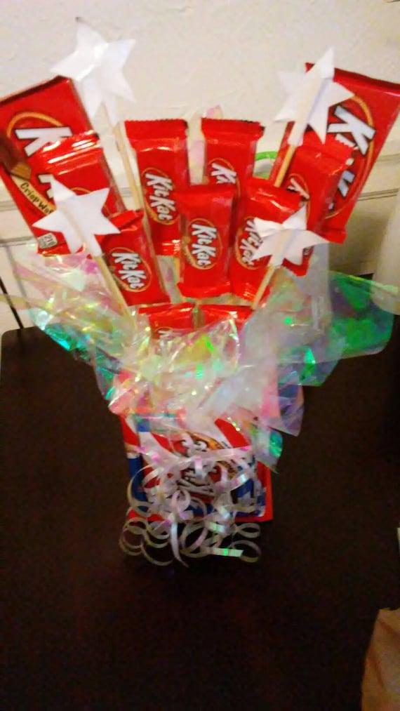 Kit kat candy bouquet etsy