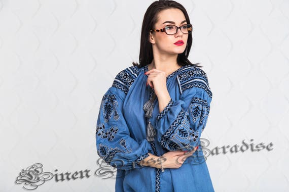 Shirts SALE Blouse Nouveau 18 Chic Fashionable Embroidery to ship Tunic 20 Ready Ukrainian Size US Boho Nationale Embroidered Women's SS1ra