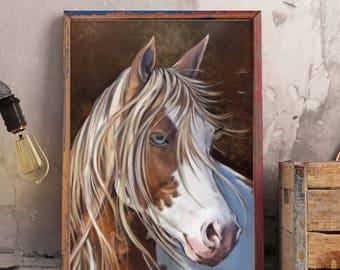 Horse Art, Horse Wall Art, Horse Decor, Wall Hanging, Western Art, Western Wall Art, Animal Wall Art, Farm Art, Paint Mare Wall Decor