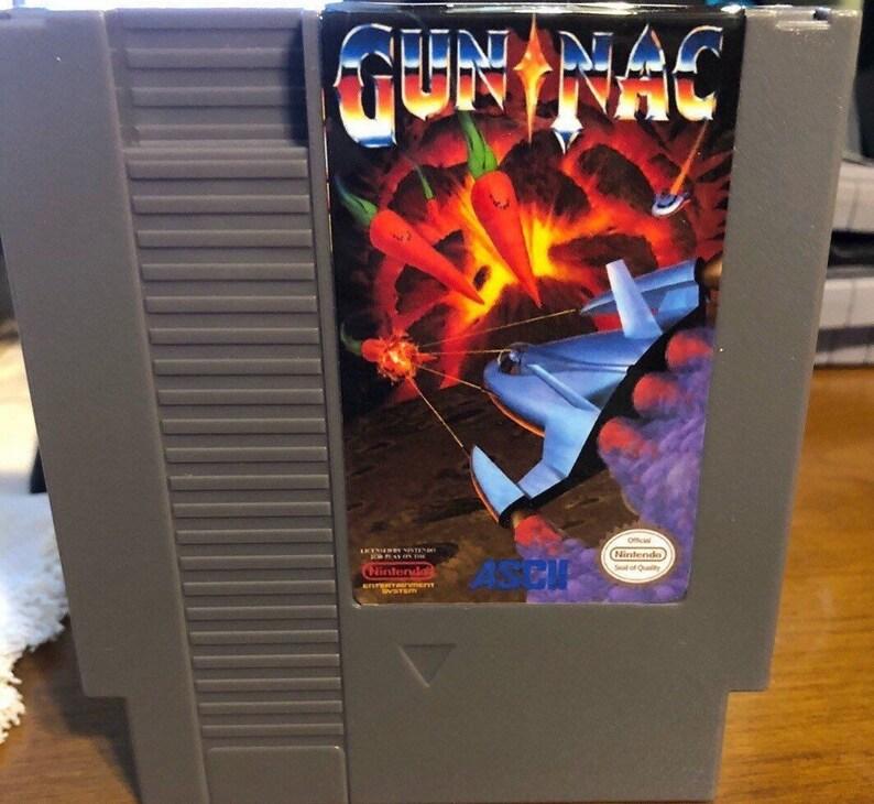Gun-Nac NES Game - Gun Nac Nintendo Galaga Gradius lifeforce