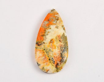 Pear Shape Stone SS-0885 Bumble Bee Jasper cabochons for Jewelry Making /& Wire Wrapping 48 x 21 mm