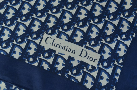 Christian Dior 1970s Silk Monogram Scarf