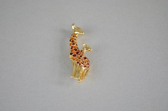 Schiaparelli Giraffe & Baby Brooch