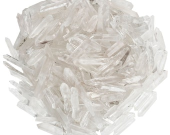 Digging Dolls: 1/4 lb Natural Quartz Jewelry Points / Shards- Small Quartz Crystals for Wire Wrapping, Crafts and Art