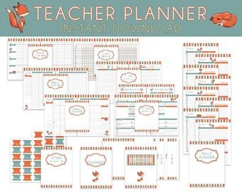 lesson plan book etsy