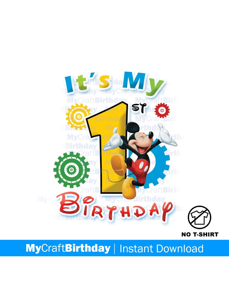 mickey mouse first birthday shirt iron on 1st birthday etsy5112873 Mickey Mouse 1st Birthday Shirt Diy #20