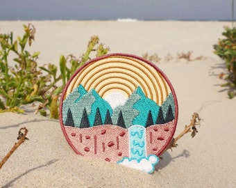 Mountain View Patch - Nature Patch - Outdoors Patch - Hiking Patch - Waterfall Patch - Sun Patch - Adventure Patch - Travel Patch