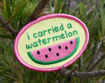 Watermelon Patch - Dirty Dancing Patch - Movie Patch - '80s Patch - Film Patch - Dance Patch - Funny Patch - I Carried A Watermelon