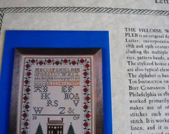 Heloise Williams Sampler - The Scarlet Letter- Collectible
