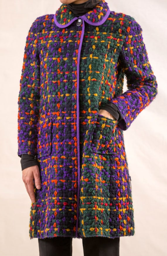 D&G Dolce and Gabbana Vintage Knitted Wool Coat