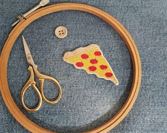 Iron-on Pizza Patch