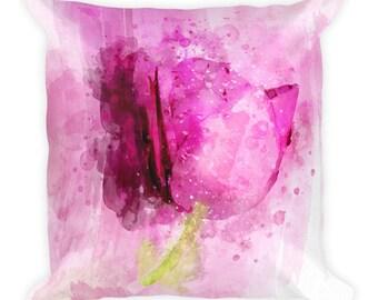 Pink Tulip -  Square Pillow