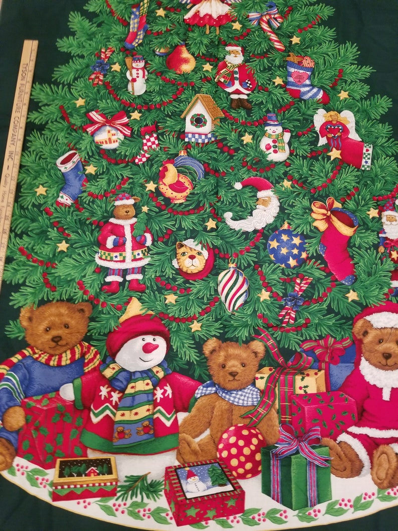 Tall Christmas Tree Door Wall Hanging Fabric By Cranston 58 Inches Tall By 36 Inches Wide Christmas Craft Christmas Fabric