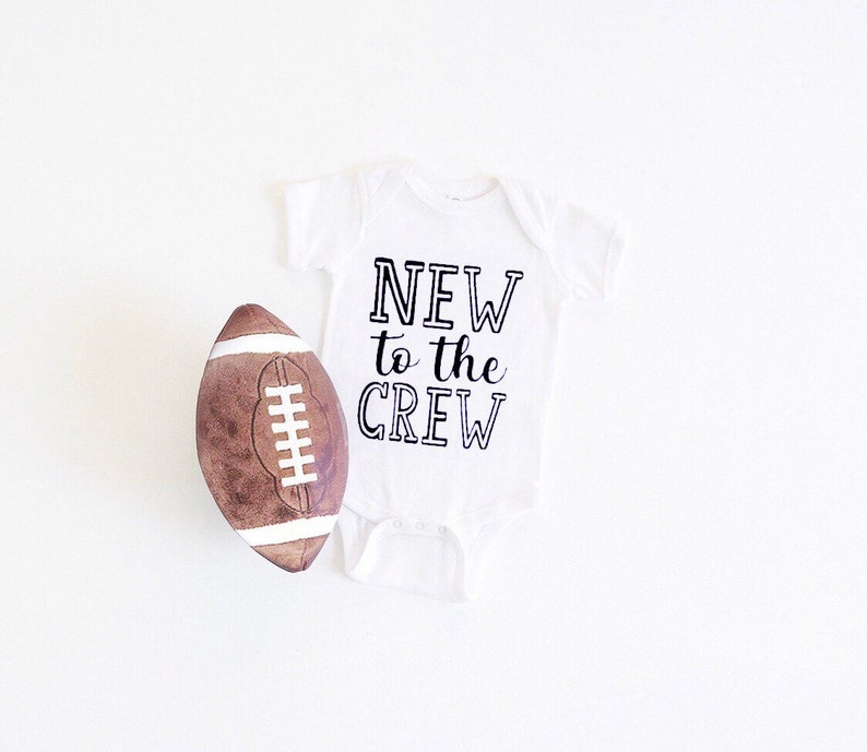 pregnancy announcement newborn coming home outfit bodysuit Newborn pregnancy reveal new to the crew baby reveal baby boy