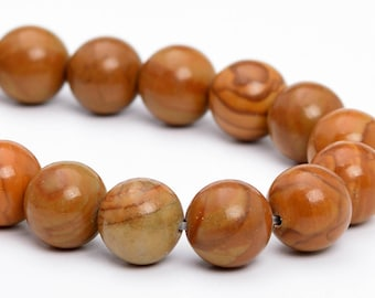 "6MM Brown Picture Jasper Natural Gemstone Half Strand Round Loose Beads 7.5"" (101153h-326)"