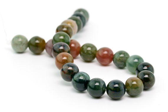 """8MM SANCTUARY INDIAN AGATE GEMSTONE  ROUND LOOSE BEADS 15.5/"""""""
