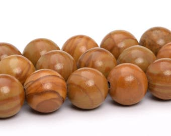 "4MM Brown Picture Jasper Natural Gemstone Half Strand Round Loose Beads 7.5"" (101152h-326)"
