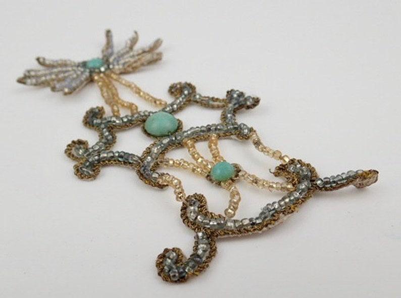 Antique Beadwork Dress Appliqu\u00e9