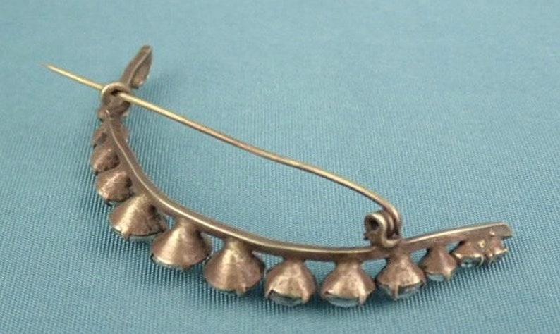 Edwardian Large Paste Moon Brooch Pin Antique 1900/'s Celestial Jewellery Jewelry