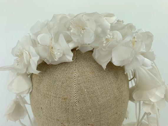 1950's-1960's Tiara Flower Veil Headdress Crown B… - image 5