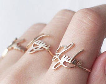 Custom Name ring - Personalized Name Ring