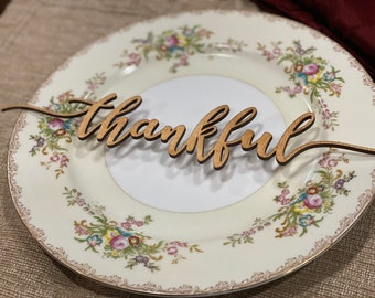 Thanksgiving Wooden Place Cards ~ Christmas Wooden Place Cards ~ Custom Holiday Place Setting ~ Personalized Wedding Table ~ Laser Cut