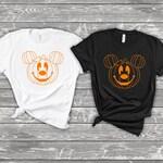 Pumpkin Mickey - Matching Disney Shirts, Halloween Family Vacation Park Shirts - Baby Kids Youth Adult Size