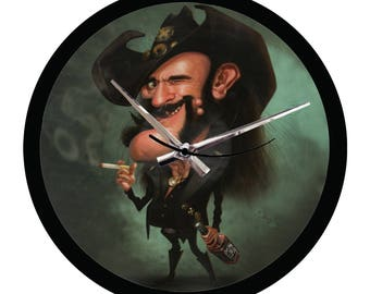 Caricature Lemmy Motorhead - Vinyl Wall Clock 12""