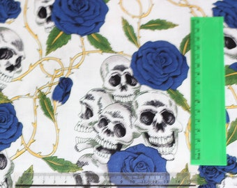 Skull and Roses Cotton