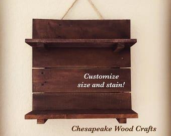 Raw Wood Shelf, Reclaimed Wood Shelves, Rustic Wooden Shelves, Pallet Wood Shelf, Wooden Display Shelf, Rustic Home Decor, Raw Wood