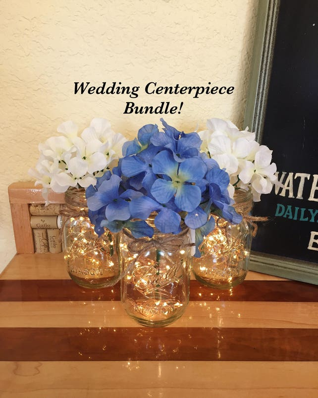 Bulk Of 10 Rustic Wedding Centerpieces Wedding Table Etsy
