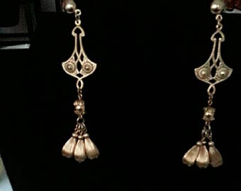 Gold Chandelier Earring Vintage 1950-60
