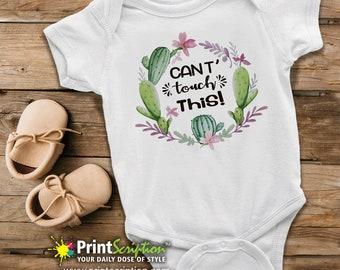 6f9d89417 Cactus Baby | Don't Touch This Onesie® | Custom Baby Onesie® | Baby  Bodysuit | Photo Onesie® | Funny Onesie® | Personalized Onesie®
