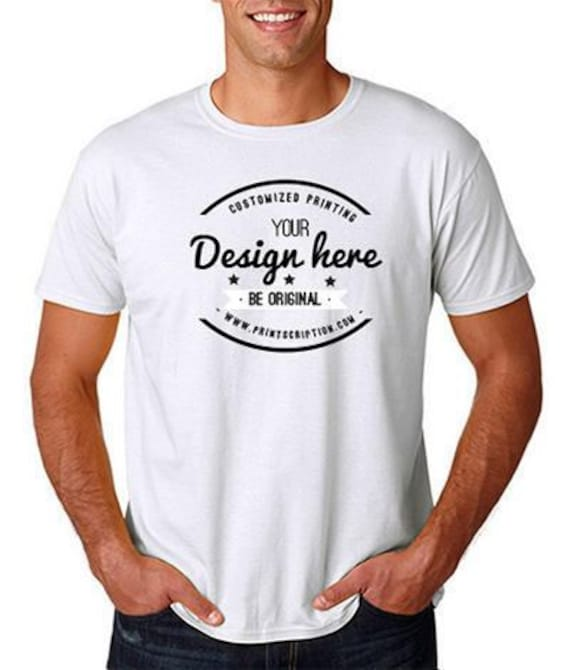 Personalized T shirt - One Color Print | print on demand T Shirt -  Personalised gift - No minimum order | Custom Made | Free Mock Up