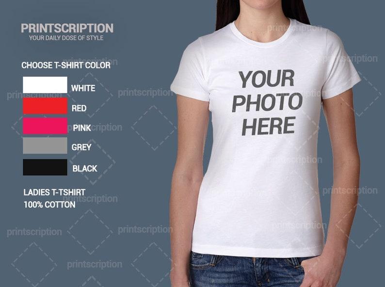 52d5d3c2c Custom Photo T-Shirt Printing Personalized T-Shirt Family | Etsy